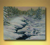 Thawing Creek - Acrylic on Canvas