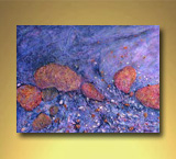 Terra Rocks And Pebbles - Mixed Media on Canvas